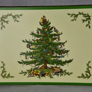Set of 4 Spode Christmas Tree Placemats